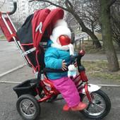 Велосипед трехколесный Azimut на надувных колесах и на спицах