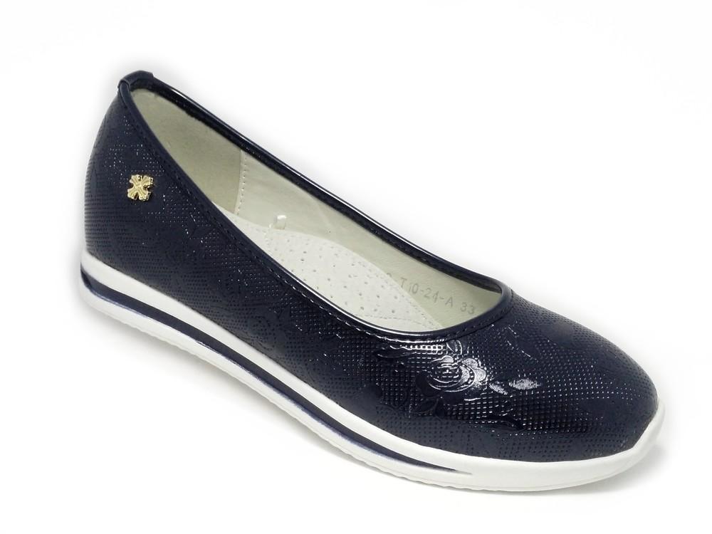 Туфли на танкетке для девочки, чёрные, c-t10-24-а фото №1