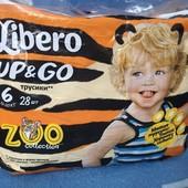 Трусики-подгузники памперсы Libero Up&Go. 6 (13-20 кг.)