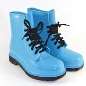 Ботинки силикон 3 цвета яркие Т0120