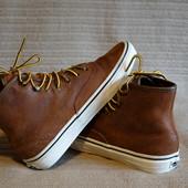 Шикарные высокие кожаные фирменные кеды карамельного цвета. Vans  38 р