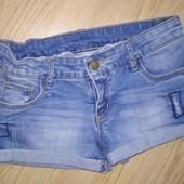 Крутые джинсовые шорты на рост 140 см