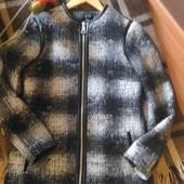 New Look 8 размер, S, Стильная куртка, пальто в клетку