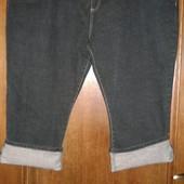 Капри джинсовые очень большого размера W46 Union Blue
