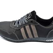 Кроссовки подростковые кожа Cross Fit 30 черно-серые