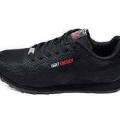 Кроссовки мужские Supo Light Energy Sport 1608 черные(реплика)
