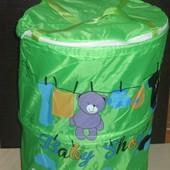 Детская корзина для игрушек , с крышкой . выс.50 см