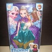 Кукла Эльза , шарнирная , с оленем , свет короны , из мульт. frozen