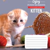 25шт Тетрадь школьная 18л. # 794815 Kittens Funny Moments 25шт.