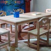 Стол растишка из натурального дерева