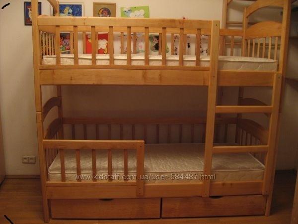 Двухъярусные усилиные кроватки . акция! фото №2