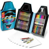 Набор пенал для творчества Crayola с мелками, фломастерами и карандашами (синий)
