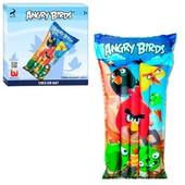 Качественный, трёхслоевой Надувной Матрас Bestway 96104 Angry Birds