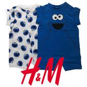 Комплекти ромперів в ассортименті для малюків 1-24 місяці H&M Швеція