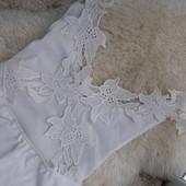 Yoins платье белого цвета кружево на спине S-M-размер