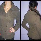 Котоновая куртка,пальто под милитари