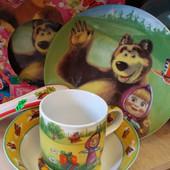 Набор посуды Маша и медведь, керамика