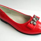 Яркие туфли-лодочки бренда Леопард для девочек (р. 32 по 37), код товара - 151