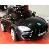 Детский электромобиль Porshe M 3272Eblr-2 с кожаным сиденьем, автопокраска, черная