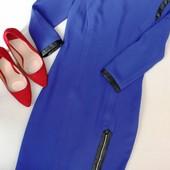Классическое синие платье размер S