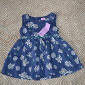 новое красивое платье сарафан девочке F&F 12 мес Хлопок