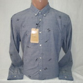 Мужская рубашка с длинным рукавом Piazza Italia. Разные цвета.