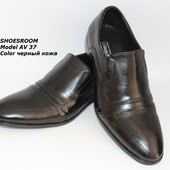 Скидка! 43 размер! Мужские кожаные классические туфли