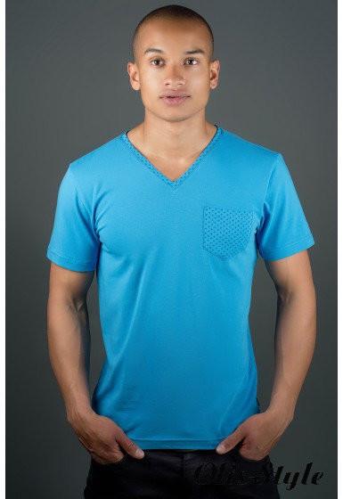 Мужская футболка Жерар с кармашиком в расцветках 46,48,50,52,54,56,58 (4 фото №1
