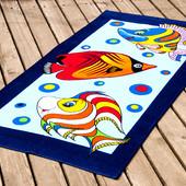 Полотенца пляжные велюр 75х150, детские расцветки