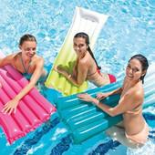 """Надувной пляжный матрас """"Омбре"""" Intex 59721 183х69 см, матрас для плавания, надувной матрас для пляж"""