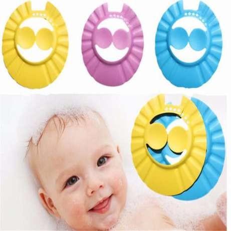 Детский регулируемый козырек для мытья головы с дополнительной защитой ушек фото №1