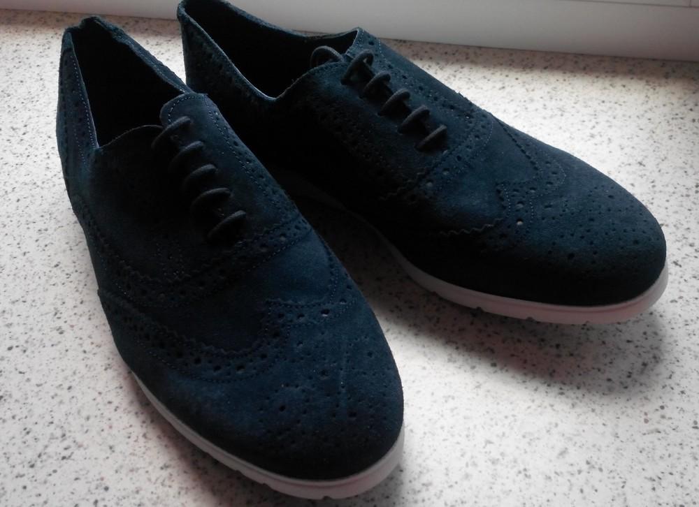 Мужские замшевые туфли лоферы Watsons р. 44 стелька 30 см. Германия фото №1