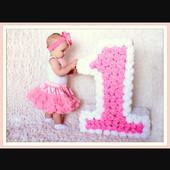 Объемная цифра 1 для дня рождения и фотосессии. Детский праздник!