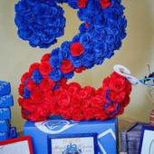 Объемная цифра 2 для дня рождения и фотосессии. Детский праздник!