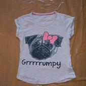 9-10 лет, р. 140-146, футболка для девочки Primark Essentials