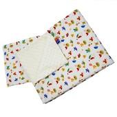 Комплект одеялко-плед и подушечка с плюшем minky