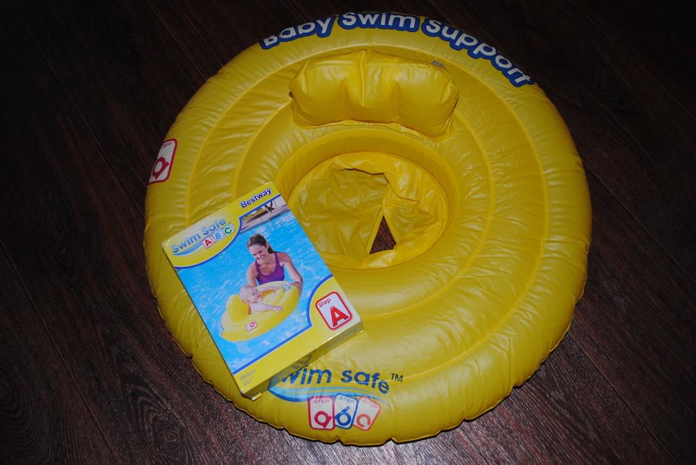 Надувной круг Swim Safe Baby жёлтый фото №1