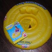 Надувной круг Swim Safe Baby жёлтый