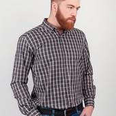 Мужская рубашка в мелкую клетку. Три оттенка, разные размеры.