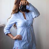 удлинённая блузка котон