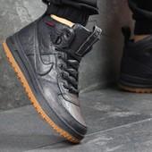 Кроссовки мужские кожа Nike Lunar Force 1 dark blue