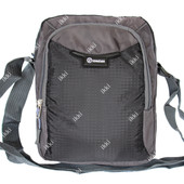 Мужская тканевая спортивная сумка серая (1258)