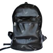Женский вместительный рюкзак черного цвета эко-кожа (Р-8)