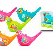 """Детский музыкальный свисток """"Поющие птички"""", тренирует дыхание, можно наполнять водой и менять тонал"""