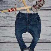 9 - 12 месяцев 80 см Фирменные джинсы штаны модникам с манжетами
