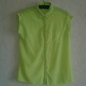 Яркая шифоновая блуза без рукавов Select ( L )