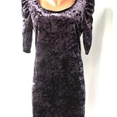 Шикарное платье Select UK16(L,наш 48/50) из мраморного велюра.