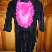 Карнавальный новогодний костюм Кошка кошечка 4 года 104 см с хвостиком