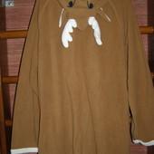 Пижама флисовая, размер XL рост до 195 см