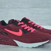 Женские кроссовки Nike Air Max Burgundy, недорого, реплика